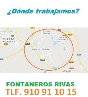 Fontaneros Rivas Vaciamadrid calle de la encina verde